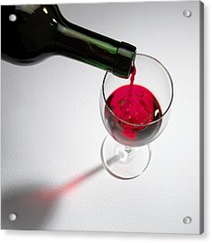Red Wine Acrylic Print by Mark Sykes