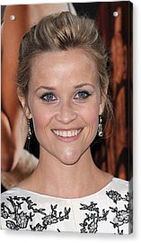 Reese Witherspoon At Arrivals For Water Acrylic Print by Everett