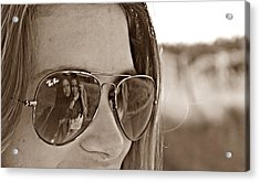 Reflected Friends Acrylic Print by Jenny Senra Pampin
