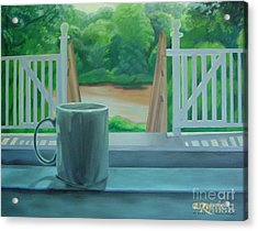 Acrylic Print featuring the painting Relaxing By Cooper River by Diana Riukas