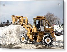 Removing Snow Acrylic Print by Ted Kinsman