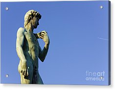 Replica Of Michelangelos David In The Piazza Michelangelo Acrylic Print by Jeremy Woodhouse