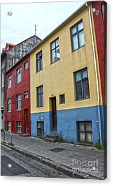 Reykjavik Iceland - Colorful House Acrylic Print by Gregory Dyer