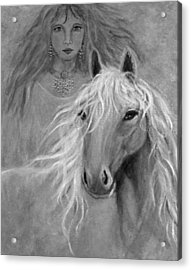 Rhiannon Acrylic Print by The Art With A Heart By Charlotte Phillips