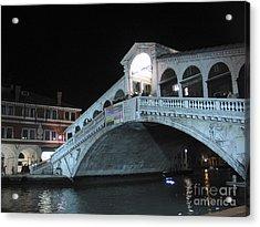 Rialto. Venice Acrylic Print by Bernard Jaubert