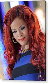 Rihanna At Talk Show Appearance For Nbc Acrylic Print