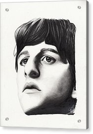 Ringo Starr Acrylic Print by Rosalinda Markle