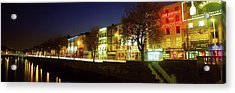 River Liffey, Dublin, Co Dublin, Ireland Acrylic Print by The Irish Image Collection