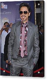 Robert Downey Jr. At Arrivals Acrylic Print by Everett