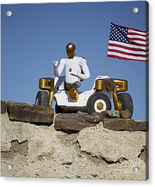 Robonaut 2 Poses Atop Its New Wheeled Acrylic Print by Stocktrek Images