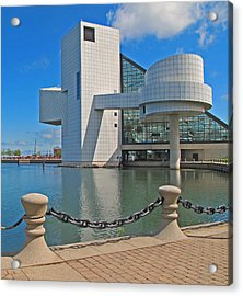 Rock And Roll Hall Of Fame Acrylic Print by Dave Mills