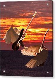 Rock Guitar Edge Acrylic Print by Eric Kempson