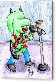 Jett The Alien Bassist Acrylic Print