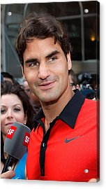 Roger Federer At A Public Appearance Acrylic Print