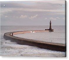 Roker Pier And Lighthouse, Sunderland, Uk Acrylic Print by Jason Friend Photography Ltd