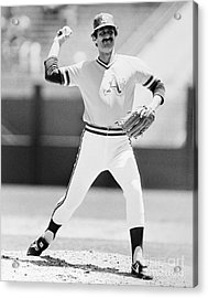 Rollie Fingers (1946- ) Acrylic Print by Granger