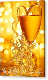 Romantic Holiday Celebration Acrylic Print by Anna Om
