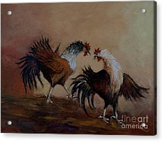 Rooster Fight Acrylic Print
