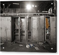 Roundhouse Lockers Acrylic Print by Jan W Faul
