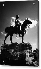 Royal Scots Greys Boer War Monument In Princes Street Gardens Edinburgh Scotland Uk United Kingdom Acrylic Print by Joe Fox