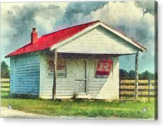 Acrylic Print featuring the painting Royster Fertilizers  by Lynne Jenkins