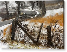 Rural Route Acrylic Print by Ron Jones
