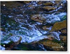 Rushing Water Acrylic Print by Royce  Gideon