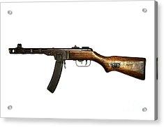 Russian Ppsh-41 Submachine Gun Acrylic Print by Andrew Chittock