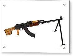 Russian Rpk 7.62mm Light Machine Gun Acrylic Print by Andrew Chittock
