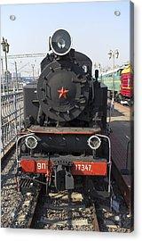 Russian Steam Locomotive 9p-17347 Acrylic Print by Igor Sinitsyn