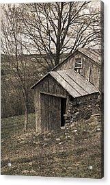 Rustic Hillside Barn Pasture Acrylic Print by John Stephens