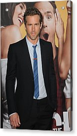 Ryan Reynolds At Arrivals For The Acrylic Print by Everett