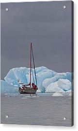 Sail Boat In Laguna San Rafael, Laguna Acrylic Print by Peter Langer