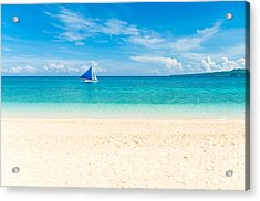 Acrylic Print featuring the photograph Sailing Boat by Hans Engbers