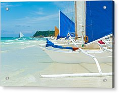 Acrylic Print featuring the photograph Sailing Boats by Hans Engbers
