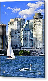 Sailing In Toronto Harbor Acrylic Print