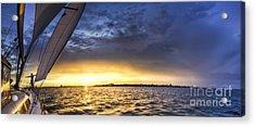Sailing Sunset Charleston Sc Acrylic Print by Dustin K Ryan
