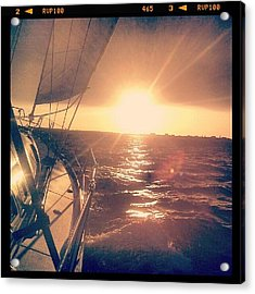 Sailing Sunset Acrylic Print