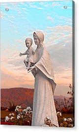 Saint Mary With Jesus Acrylic Print by Design Windmill