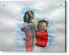 Samburu Tribe IIi. Acrylic Print by Paula Steffensen