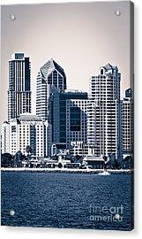 San Diego Skyline Acrylic Print by Paul Velgos