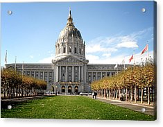 San Francisco City Hall - Beaux Arts At Its Best Acrylic Print by Christine Till
