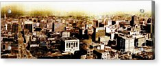 San Francisco Skyline Panorama 1909 From The Ferry Building Through South Of Market Acrylic Print by Wingsdomain Art and Photography