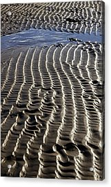 Sand Ripples At Low Tide Acrylic Print by Dr Keith Wheeler
