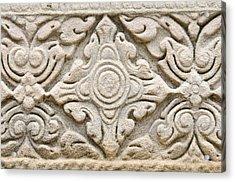 Sandstone Carving  Acrylic Print by Kanoksak Detboon