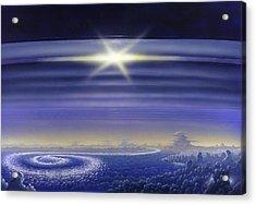 Saturn's Rings, Artwork Acrylic Print by Richard Bizley