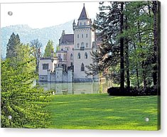 Acrylic Print featuring the photograph Schloss Anif by Joseph Hendrix