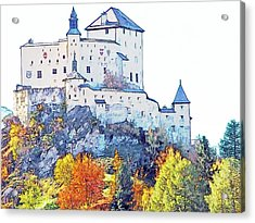Schloss Tarasp Switzerland Acrylic Print by Joseph Hendrix