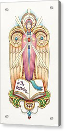 Scroll Angel - Ionica Acrylic Print by Amy S Turner