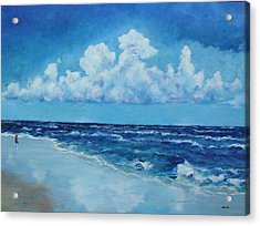 Sea And Sky Acrylic Print by Robert Henne